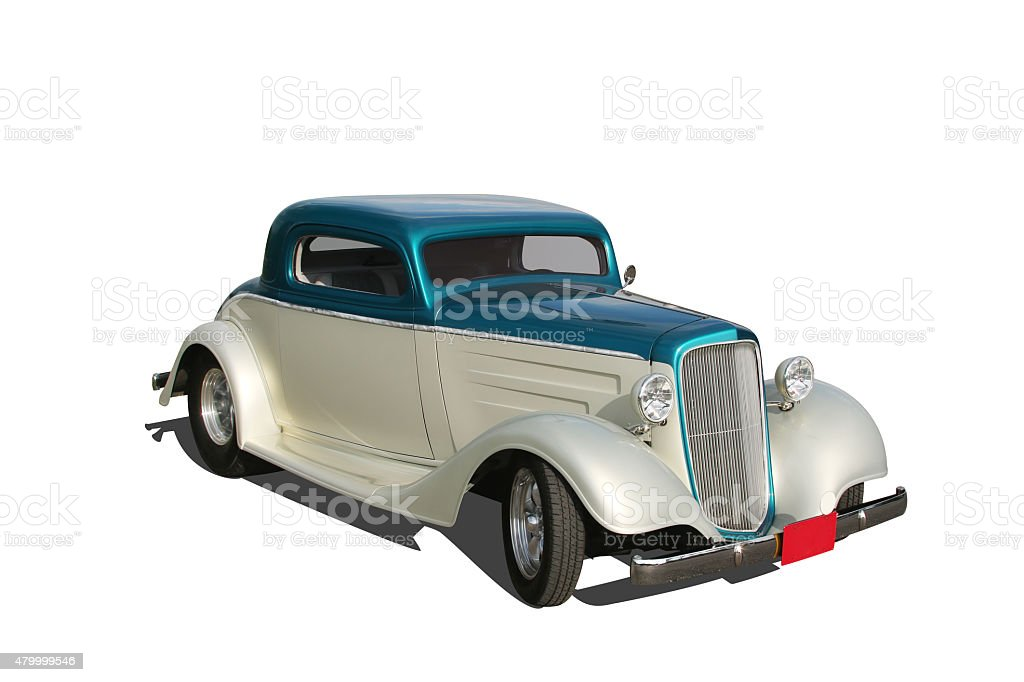 Auto Car - 1934 Hot Rod. Clipping paths. stock photo
