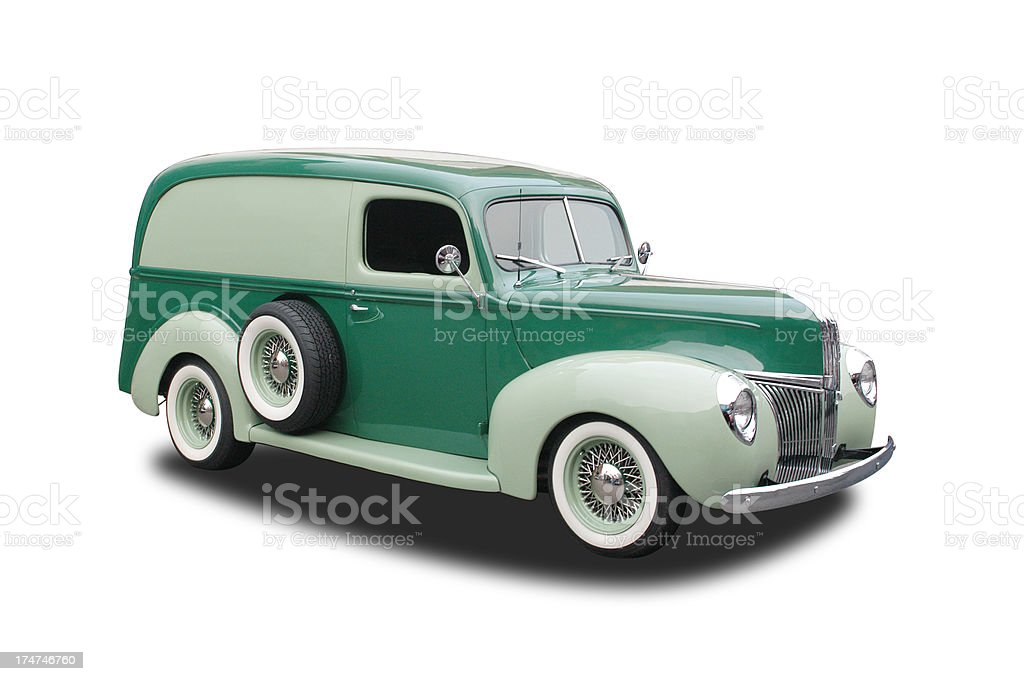 Auto Car - 1941 Ford Delivery Panel royalty-free stock photo