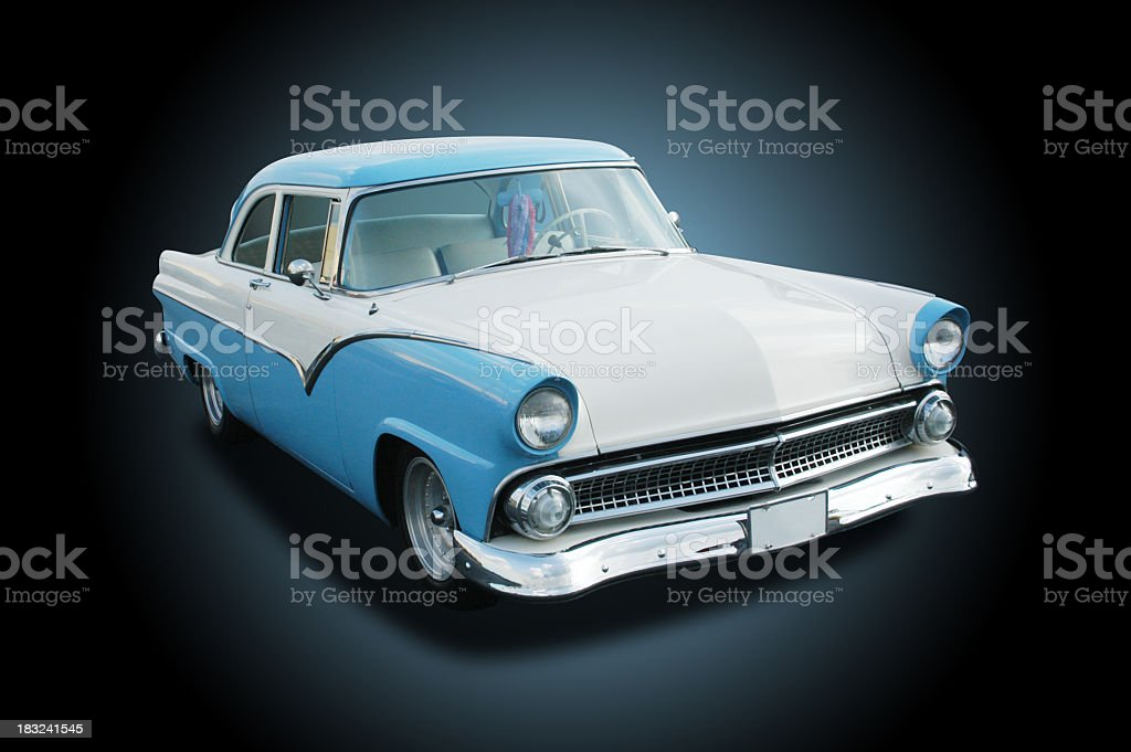 Auto Car - 1955 Ford Fairlane stock photo