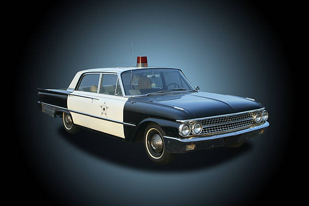 Auto Car - 1961 Ford Galaxie Mayberry Sheriff Police Car stock photo
