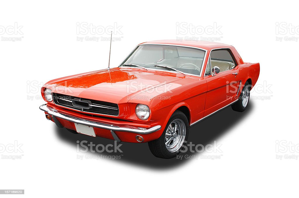 Auto Car - 1965 Ford Mustang royalty-free stock photo