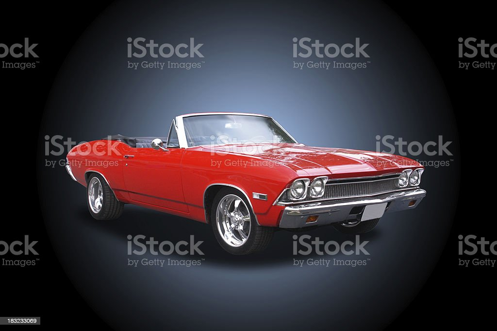 Auto Car - 1968 Chevrolet 396 Convertable royalty-free stock photo