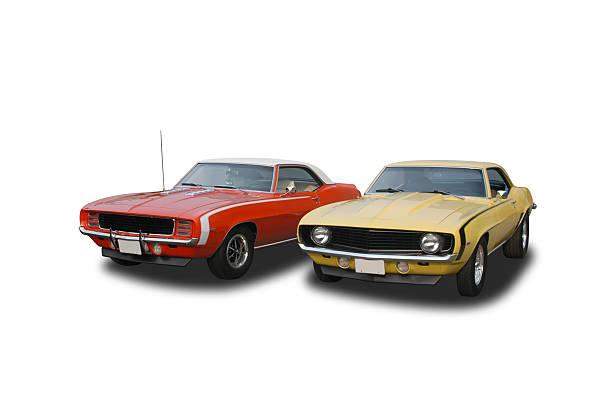 Auto Car - 1969 Chevrolet Camaros stock photo