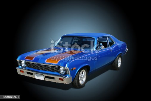 1969 Chevrolet Nova. Background is ready for use or display without further work.