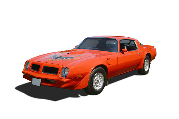 """Auto Car - 1976 Pontiac Trans Am """"1976 Pontiac Trans Am. Includes clipping paths for car, for window opacity, for shadow darkening opacity.See more of my"""" early 20th century stock pictures, royalty-free photos & images"""