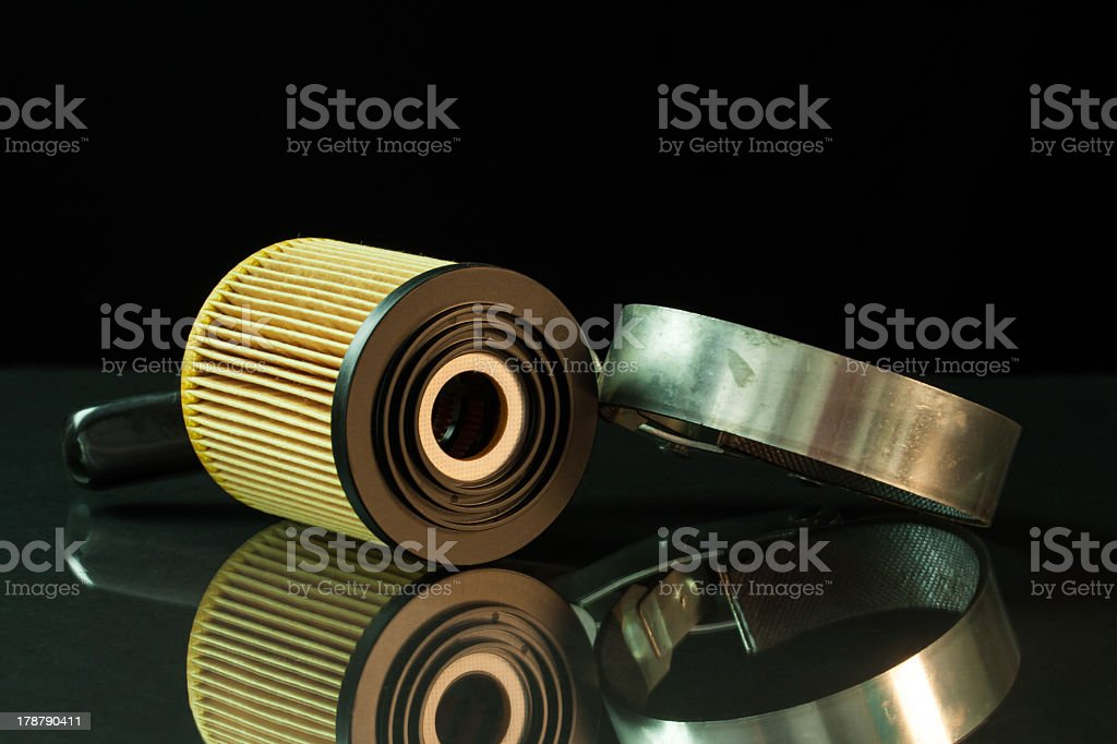 Auto care maintanance oil change filter stock photo