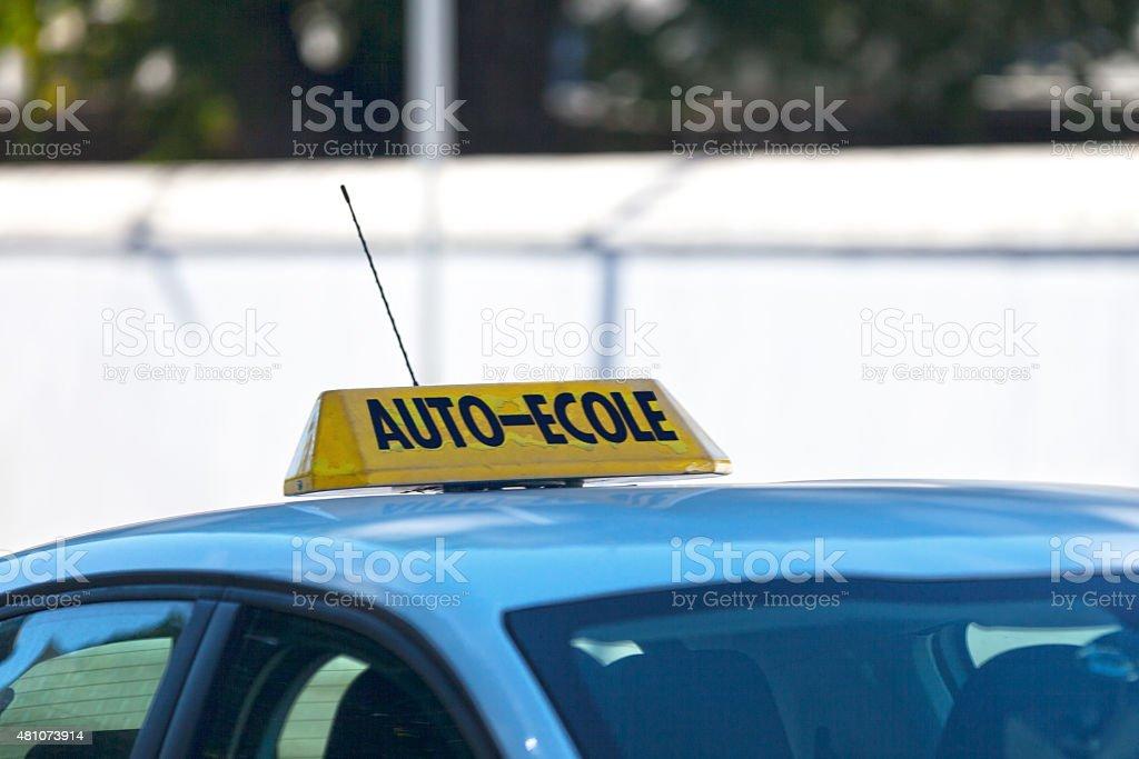 Auto École stock photo