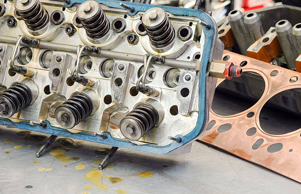 auto engine detail stock photo
