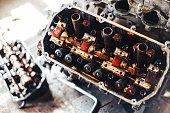 istock auto engine in garage 963374312