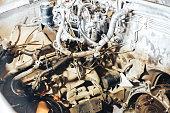 istock auto engine in garage 963374534