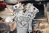 istock auto engine in garage 964858790