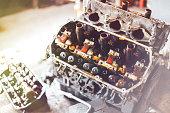 istock auto engine in garage 964872732