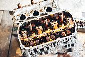 istock auto engine in garage 964875222