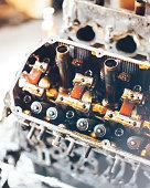 istock auto engine in garage 964876774