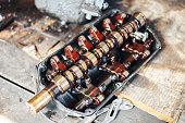 istock auto engine in garage 964883828