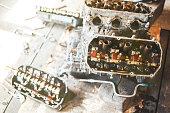 istock auto engine in garage 964887686