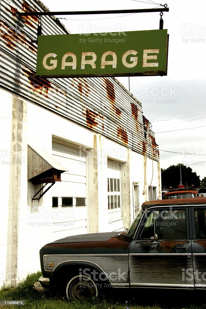 auto garage royalty-free stock photo