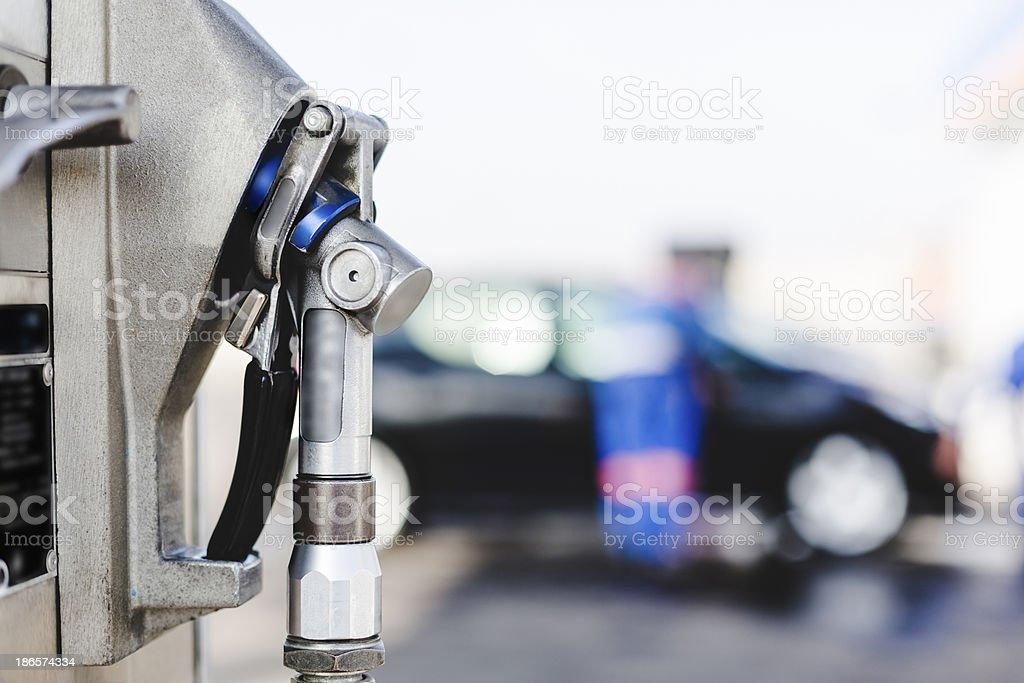 LPG auto gas refueling on petrol station royalty-free stock photo