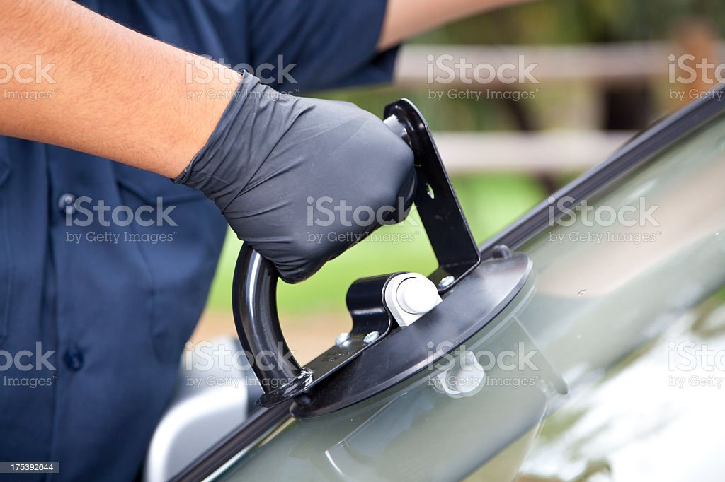 Auto Glass Repair & Replacement royalty-free stock photo