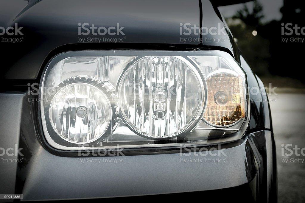 Auto Headlight royalty-free stock photo
