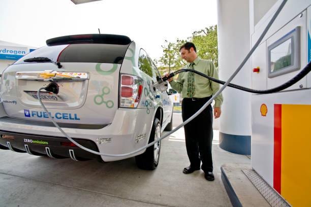 riempimento automatico del combustibile a idrogeno, los angeles - idrogeno foto e immagini stock
