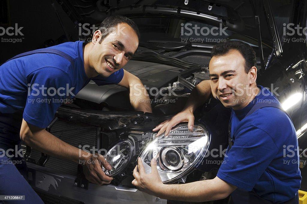 Auto Mecanic Team royalty-free stock photo