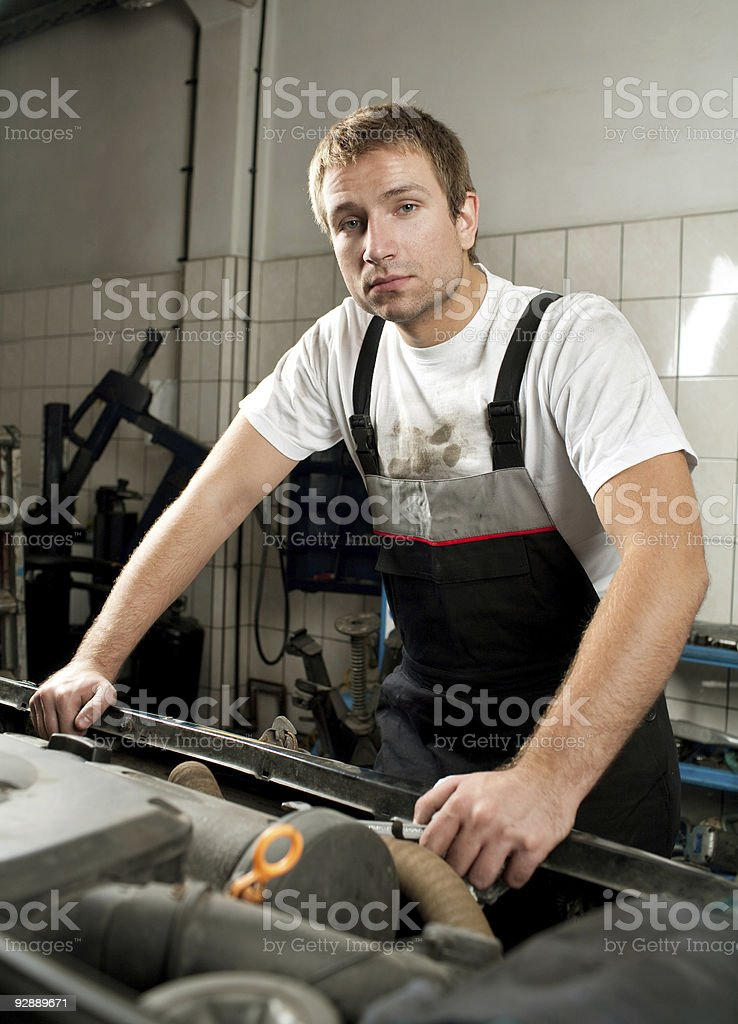 Auto Mechanic at work royalty-free stock photo