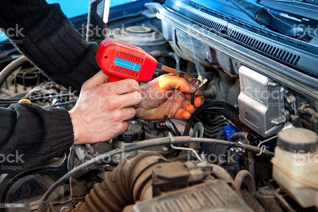 Auto mechanic - Electromechanics royalty-free stock photo
