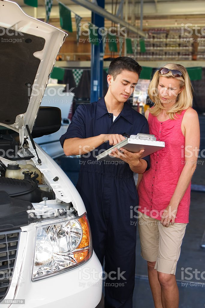 Auto Mechanic Work Order royalty-free stock photo
