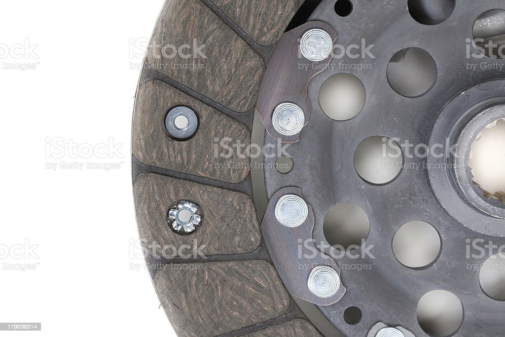 Auto Parts. Clutch plate closeup royalty-free stock photo
