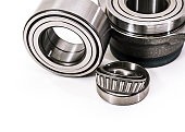 istock Auto parts. Spare parrts for the rapair of cars. Car parts. Bearings on a white background isolated. 1191464577