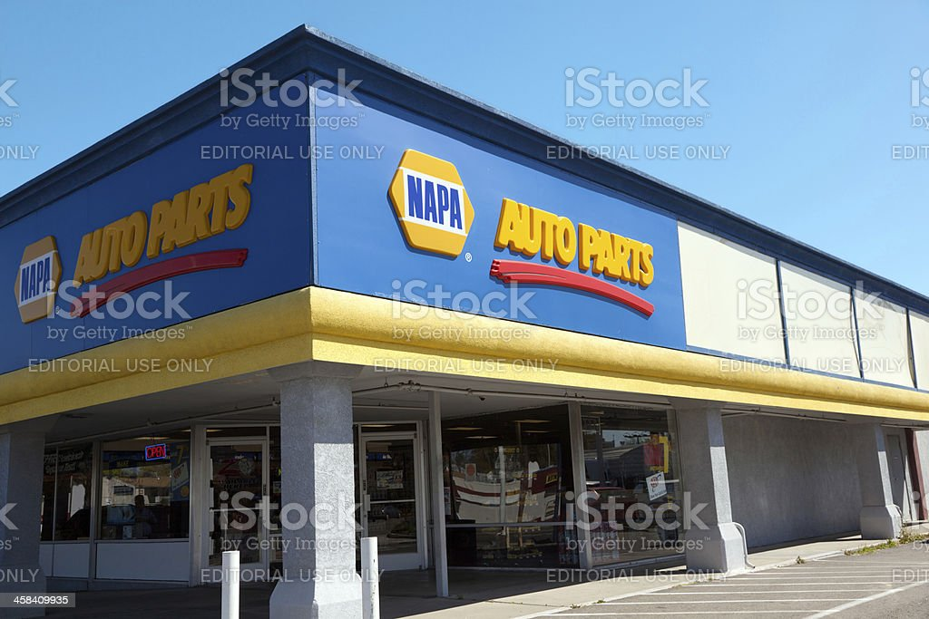 NAPA Auto Parts Store stock photo
