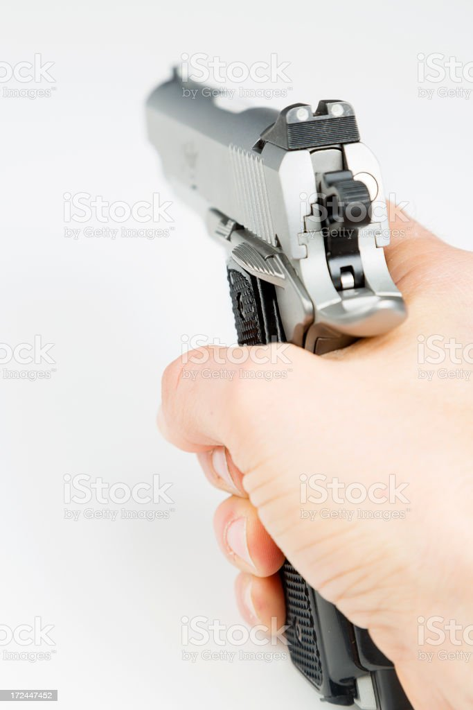 45 Auto Pistol royalty-free stock photo