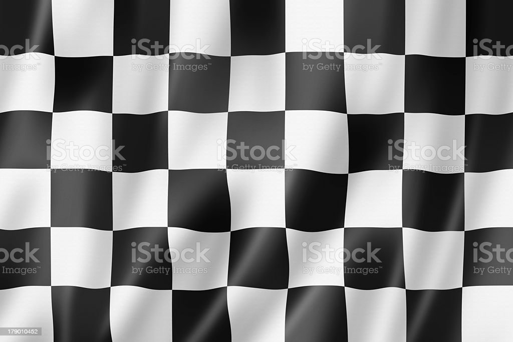 Auto racing finish checkered flag stock photo