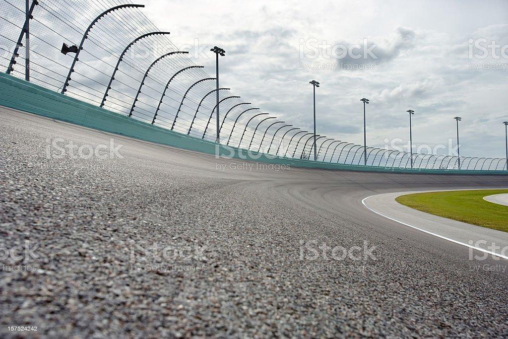 Auto racing Racetrack turn stock photo