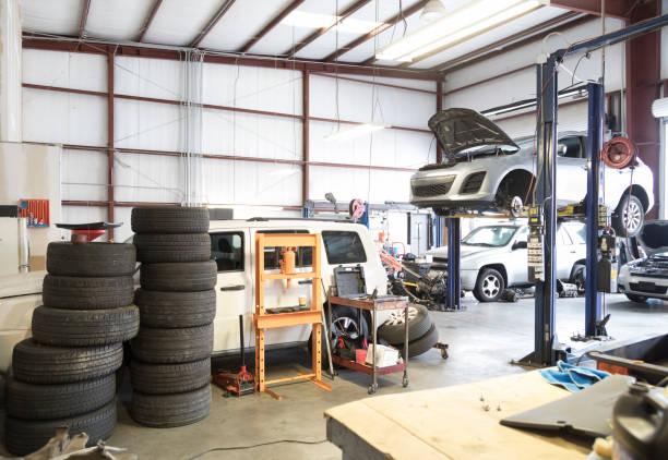 Auto Repair Garage stock photo