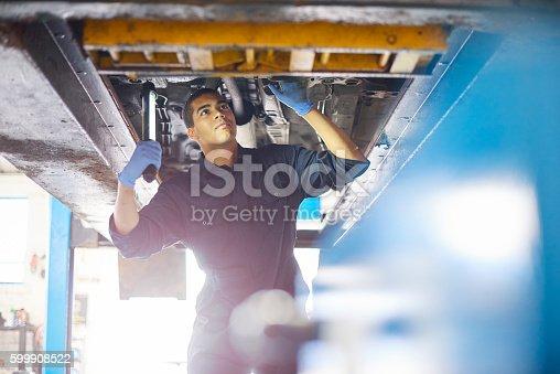 599909112 istock photo Auto repair mechanic 599908522