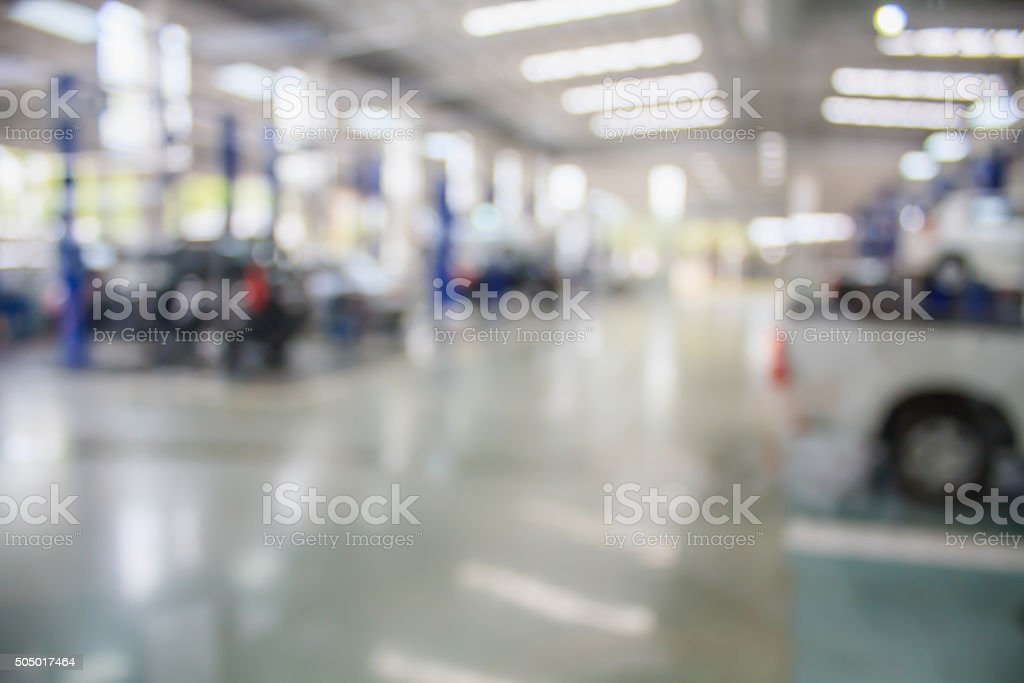 auto repair service station stock photo