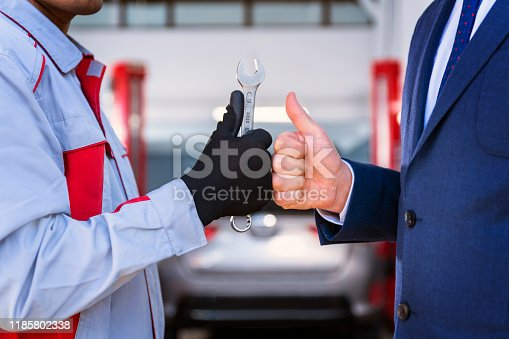 136591855 istock photo Auto Repair Shop and Banking Solidarity - Small Business Credit 1185802338
