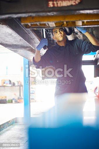 599909112 istock photo Auto repair shop 599908632
