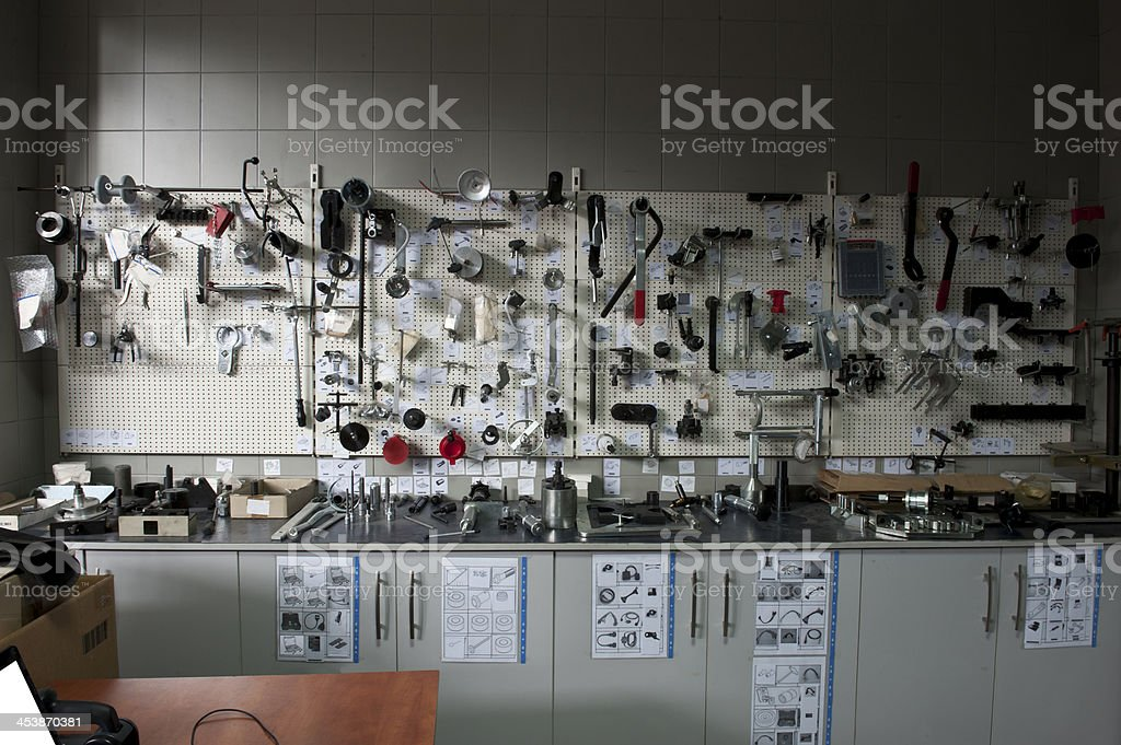 Auto repair tools and equipment stock photo