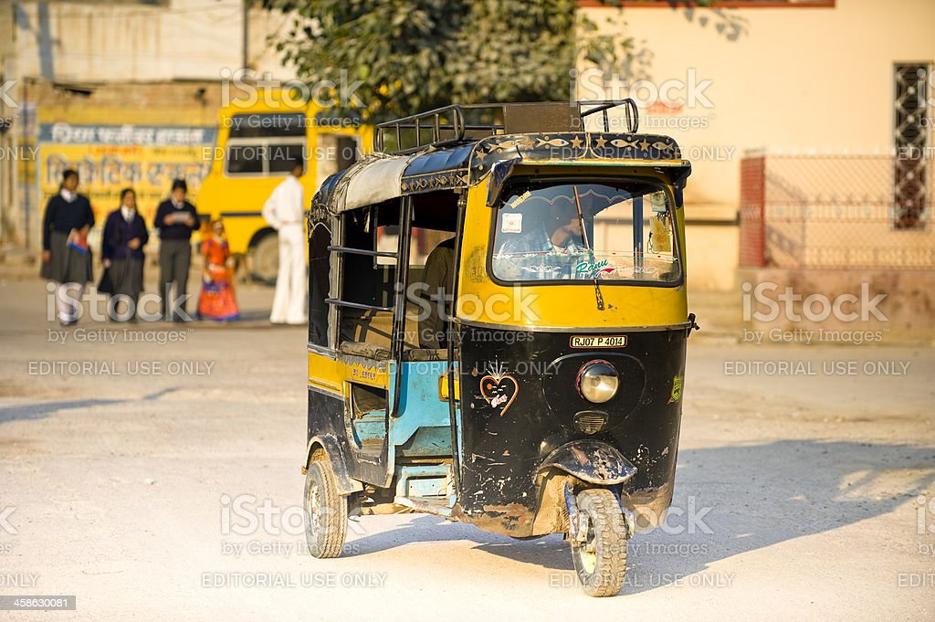Auto rickshaw in street, India royalty-free stock photo