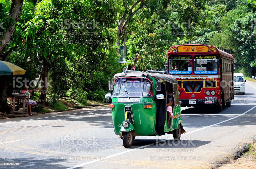 Auto rickshaw, Sri-Lanka stock photo