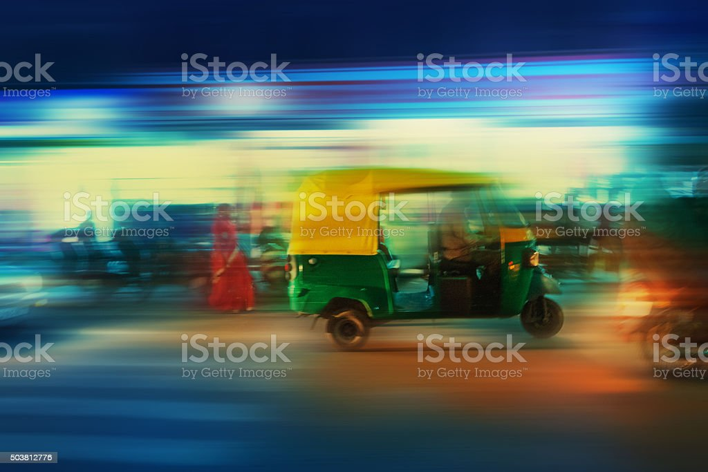 Auto Rickshaw Taxi India stock photo