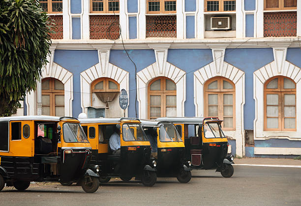 Auto Rickshaws and Old Panjim Architecture