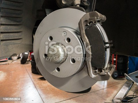 522394158 istock photo Auto service -replacement of brakes, disks and pads 1060880604