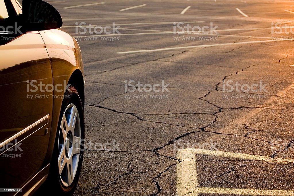 auto sunset royalty-free stock photo