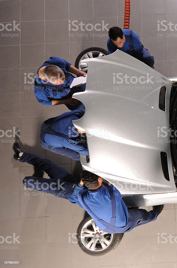 Auto Team on work royalty-free stock photo
