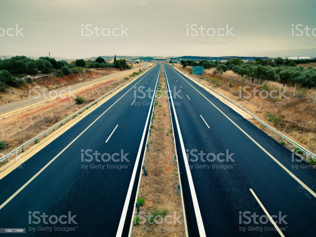 Autobahn Egnatia Odos Highway Connecting Greece-Turkey (European Union and EuropaAsia) royalty-free stock photo