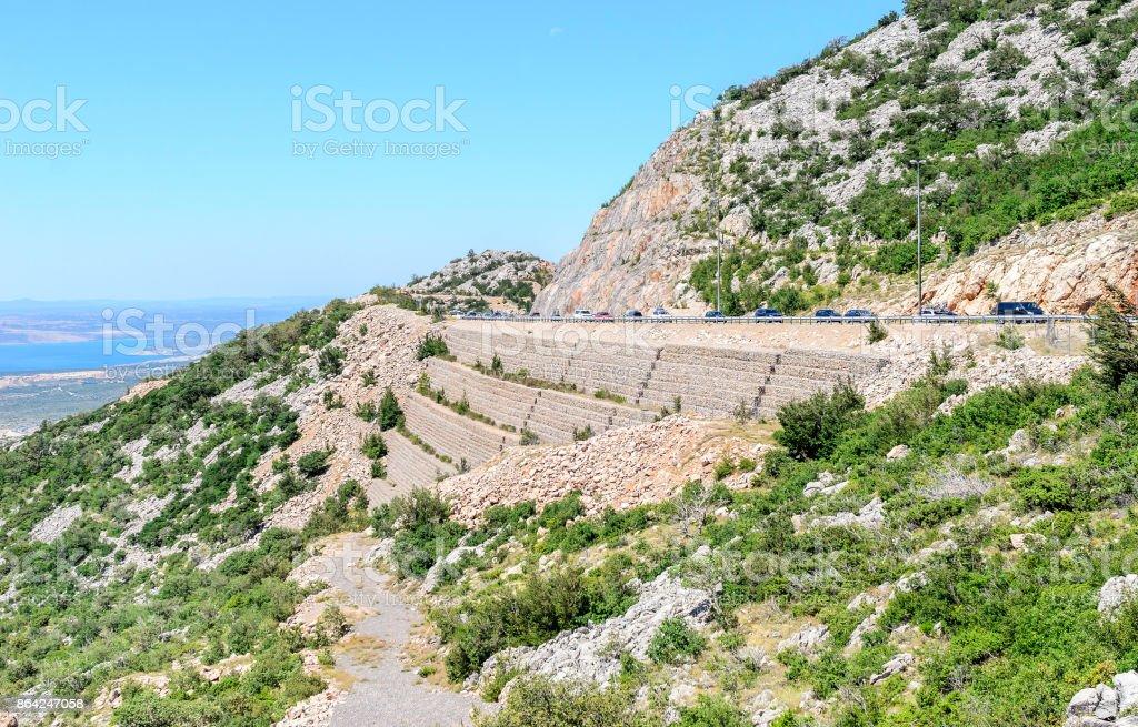 Autobahn in Croatia. royalty-free stock photo